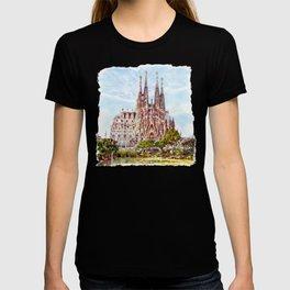 La Sagrada Familia watercolor T-shirt