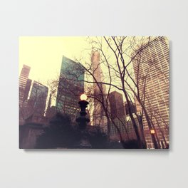 Vintage view out of Central Park  Metal Print