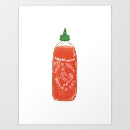 Sriracha Hot Chili Sauce Art Print