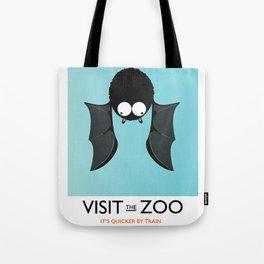 visit the zoo bats Tote Bag