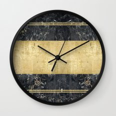 marble in gOld Wall Clock