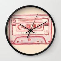 tape Wall Clocks featuring tape by muskawo
