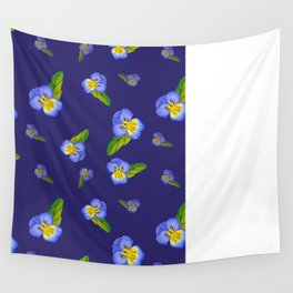 Purple Pansy Power Wall Tapestry
