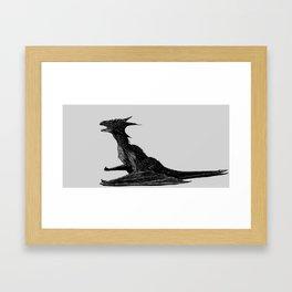 Dragon Black Framed Art Print