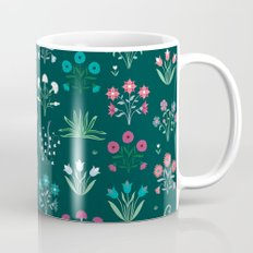 Floral pink and blue design Mug