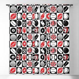 Sport Ball Checkerboard Blackout Curtain