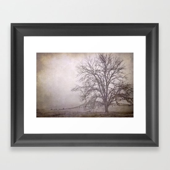 The big tree under the storm Framed Art Print