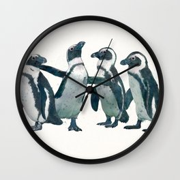 penguin party Wall Clock