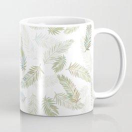 Tropical leaf pattern - Kaki, beige & grey Coffee Mug