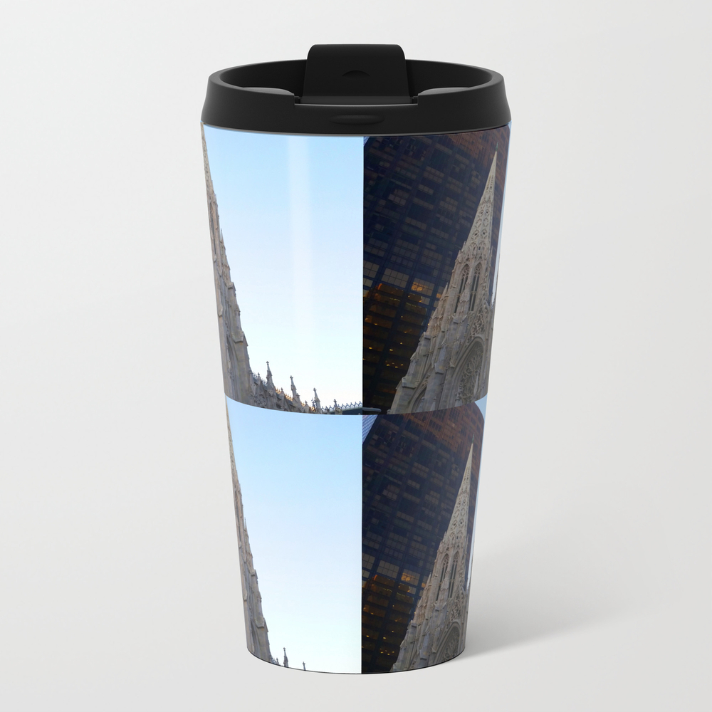 Four Leaf St. Pat's Metal Travel Mug by Katiekatherine MTM8994297