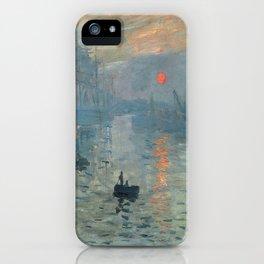 Claude Monet – Impression soleil levant – impression sunrise iPhone Case