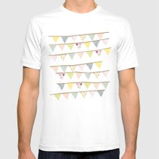 bunting fun White Mens Fitted Tee MEDIUM