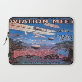 Vintage poster - Aviation Meet Laptop Sleeve