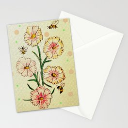 Cosmo Flowers with Bees Stationery Cards