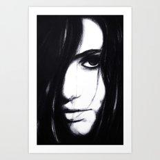 Look me in the eye. Art Print
