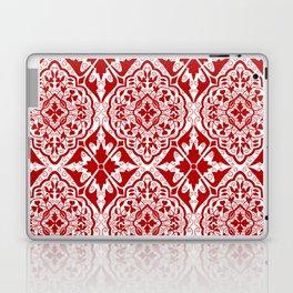 BOHEMIAN PALACE, ORNATE DAMASK: RED and WHITE Laptop & iPad Skin