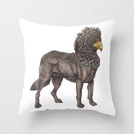 Wolf Eagle Throw Pillow