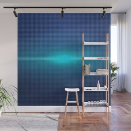Blue Abstract Light Burst Design Wall Mural