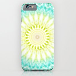 Mandala fresh turquoise     iPhone Case