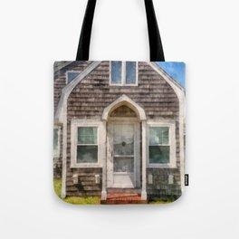Cape Cod Cottage Watercolor Tote Bag