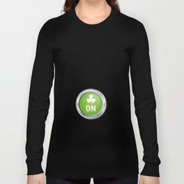 Drink Mode St. Patrick's Day Shamrocks Long Sleeve T-shirt
