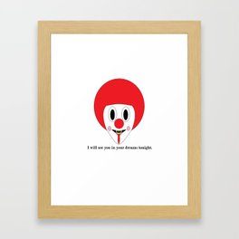 Clown #1 Framed Art Print