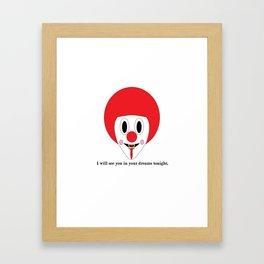 Clown #1 Framed Art Print