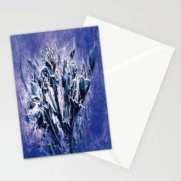 Thistle and Weeds_deep purple Stationery Cards