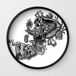 Abstract Style Corazón Crazy Wall Clock