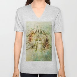 BEAR HEADDRESS Unisex V-Neck