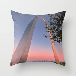 Gateway Arch at sunset in St. Louis, Missouri. Throw Pillow