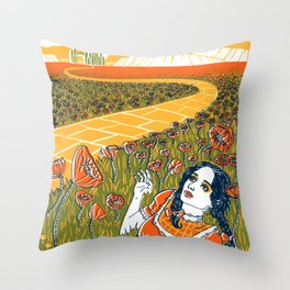 Dorothy in the Poppy Field Throw Pillow