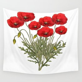 Flanders Red Poppy Wall Tapestry