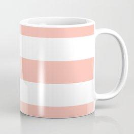 Melon - solid color - white stripes pattern Coffee Mug