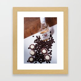 Dark Chocolate and Bourbon Framed Art Print