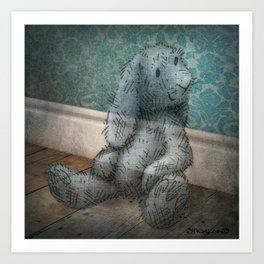 A Child's Bunny from Barely There Art Print