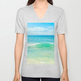 Ocean Blue Beach Dreams Unisex V-Neck