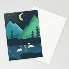 Moonlight Swim Stationery Cards