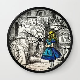 Blonde Girl Called Alice Wall Clock