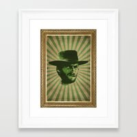 clint barton Framed Art Prints featuring Clint by Durro