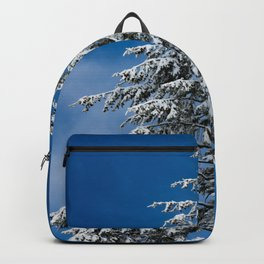 Winter Forest Fir Tree Snow IX - Nature Photography Backpack