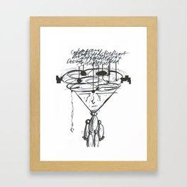 Thought Puppeteer WHT Framed Art Print