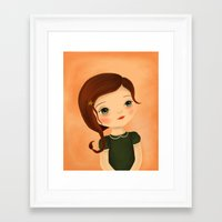 scorpio Framed Art Prints featuring Scorpio by The Midnight Rabbit