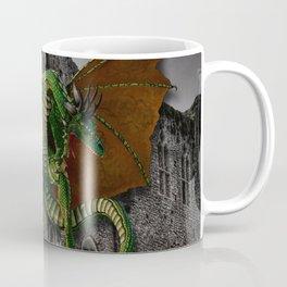 Dragon & Castle Artwork Coffee Mug