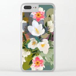 Flower & the Glory Clear iPhone Case
