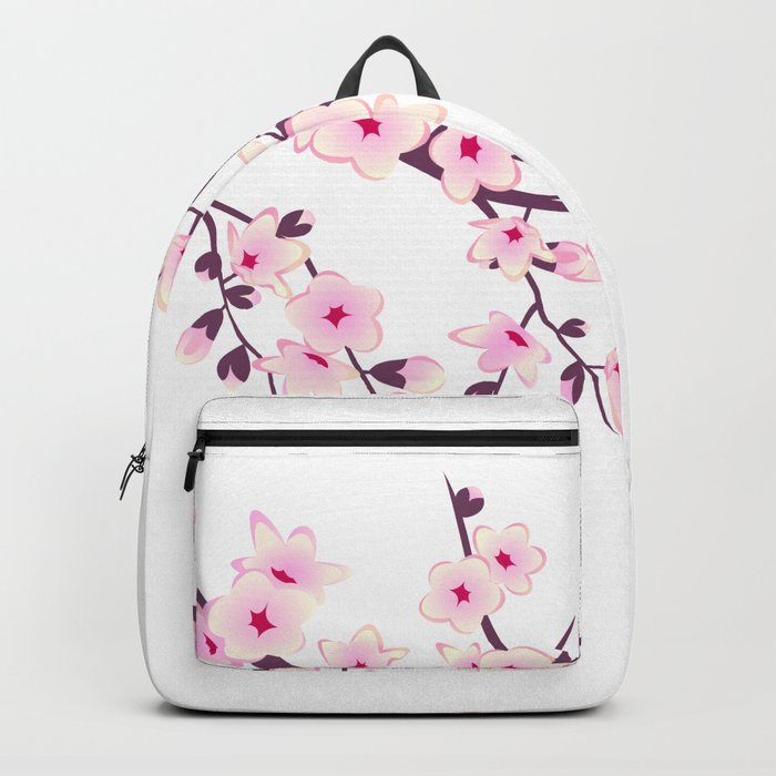 Cherry Blossom Pink White Backpack