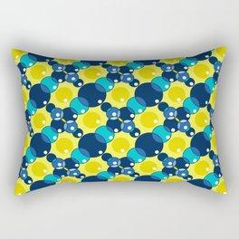 Circles of Blue Rectangular Pillow