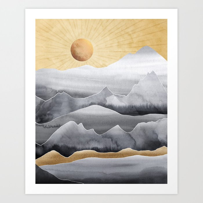 Mountainscape / Day Art Print