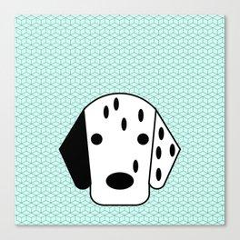 Pop Dog Dalmatian Canvas Print