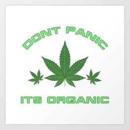 Its Organic Marijuana Leaf Trio Art Print